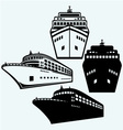 Big cruise ship vector image vector image