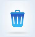 bin cute flat simple modern icon design vector image vector image