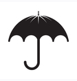 Black Umbrella Silhouette vector image