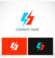 bolt lighting electric logo vector image
