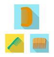 brush and hair symbol set vector image