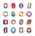 capital o letter shape creative icons for business vector image vector image