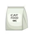 cat food bag icon cartoon of cat food bag vector image