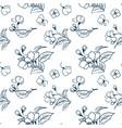 cherry blossom pattern simple sketch sakura vector image