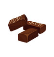 chocolate candies delicious dessert vector image