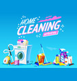 cleaning service poster home tools banner vector image