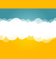 clouds blue yellow background vector image vector image