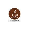 coffee cup logo template icon vector image vector image