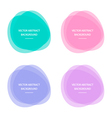 Colorful abstract circle round frames vector image vector image
