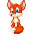 cute animal fox posing vector image vector image