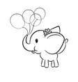 cute baby elephant vector image