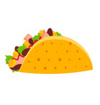 cute colorful mexican taco symbol vector image