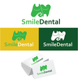 Dental logos collection in various color vector image