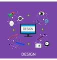 Design Icon Concept Flat Style vector image vector image