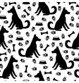 dog pattern vector image vector image