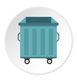 Dumpster icon flat style vector image vector image