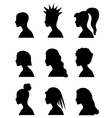 fashion girl hairstyles set vector image