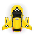 fast taxi car with airplane wings and engines vector image vector image