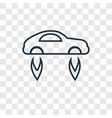 flying car concept linear icon isolated on vector image vector image