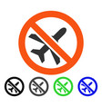 forbidden airplane flat icon vector image vector image