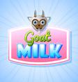 Goat milk label vector image vector image