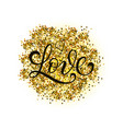 gold glitter heart love design card poster vector image