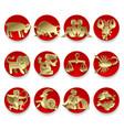 gold zodiac signs vector image vector image