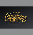 golden shiny realistic 3d inscription merry vector image
