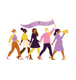 happy women or girls standing together and holding vector image