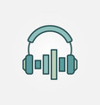 headphones with sound equalizer colorful vector image