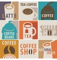 icons on a theme of coffee and tea vector image vector image