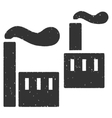 Industry Icon Rubber Stamp vector image