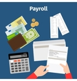 Invoice sheet or payroll icon vector image