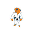 judo hermit crab charcater vector image vector image