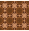 Kaleidoscope abstract gold pattern vector image