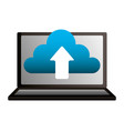 laptop cloud computing upload data vector image vector image