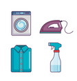 laundry and cleaning domestic housekeeping set vector image