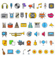 multimedia audio sound icons vector image