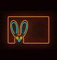 neon color happy easter sign isolated on br vector image vector image