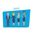 people in business clothes with briefcases and vector image