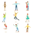 People Overwhelmed Of Happiness And Joyfully vector image vector image