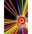 rainbow abstract disco vector image vector image