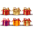 realistic gift boxes isolated on white vector image vector image