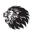 roaring lion logo mascot design vector image