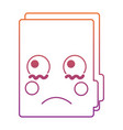 sad file folder kawaii icon image vector image