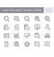 search simple line icons vector image vector image