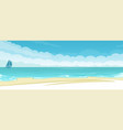 seascape background vector image vector image