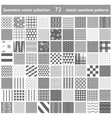 set of 72 geometric seamless patterns backgrounds vector image vector image