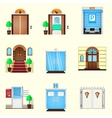 Stylized colorful icons for door vector image vector image