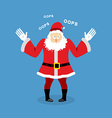 Surprised Santa Claus speak OOPS Perplexed vector image vector image